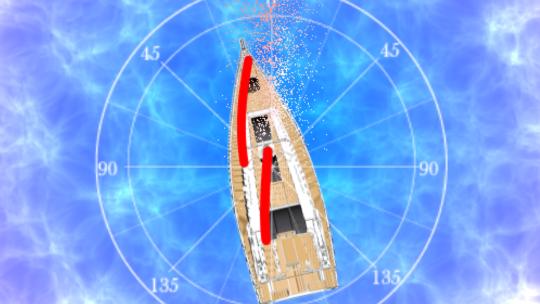 ヨットが風上に進む方法